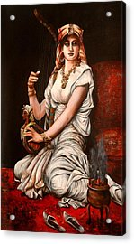 Egyptian Lady With Harp Acrylic Print