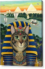 Egyptian Pharaoh Cat - King Of Pentacles Acrylic Print