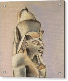 Acrylic Print featuring the drawing Egyptian Study by Elizabeth Lock