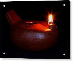 Egyptian Style Lamp - Terracotta 12 Acrylic Print