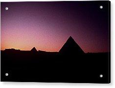 Egyptian Sunset Acrylic Print by Gary Wonning