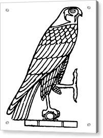 Egyptian Symbol: Falcon Acrylic Print by Granger