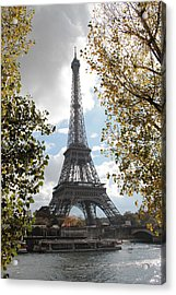 Acrylic Print featuring the photograph Eiffel From Avenue De New York by Christopher Kirby