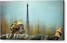 Eiffel Tower 1 Acrylic Print by Marty Garland
