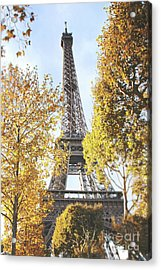Acrylic Print featuring the photograph Eiffel Tower Amidst The Autumn Foliage by Ivy Ho