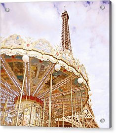 Acrylic Print featuring the photograph Eiffel Tower And Carousel by Ivy Ho