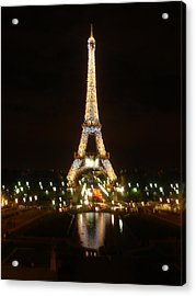 Eiffel Tower At Night Acrylic Print by John Julio