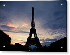 Eiffel Tower At Sunset, Paris, France Acrylic Print