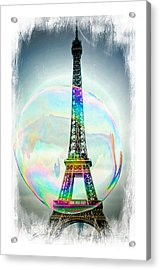 Eiffel Tower Bubble Acrylic Print