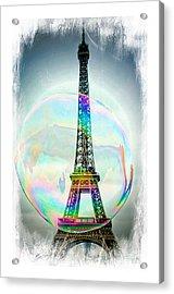 Eiffel Tower Bubble Acrylic Print