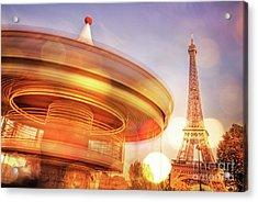 Eiffel Tower Carousel Acrylic Print