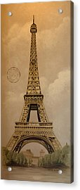 Eiffel Tower Acrylic Print by Holly Whiting