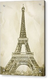 Eiffel Tower Illustration Acrylic Print