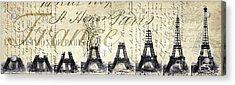 Eiffel Tower Acrylic Print by Jon Neidert
