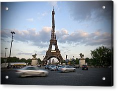 Eiffel Tower Acrylic Print by Krista  Corcoran Photography