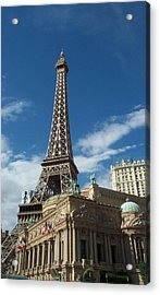 Eiffel Tower Las Vegas Nevada Acrylic Print by Alan Espasandin