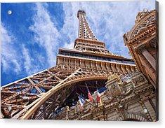 Acrylic Print featuring the photograph Eiffel Tower Las Vegas  by Ricardo J Ruiz de Porras