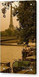 Eiffel Tower Acrylic Print by Louise Fahy