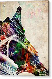 Eiffel Tower Acrylic Print by Michael Tompsett