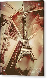 Eiffel Tower Old Romantic Stories In Ancient Paris Acrylic Print