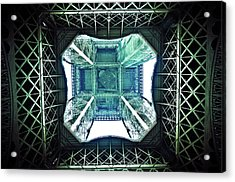 Eiffel Tower Paris Acrylic Print by Fabien Astre