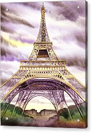 Eiffel Tower Summer In Paris Acrylic Print