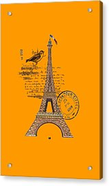 Eiffel Tower T Shirt Design Acrylic Print