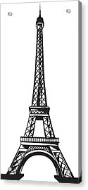 Eiffel Tower Up Acrylic Print by Stanley Mathis