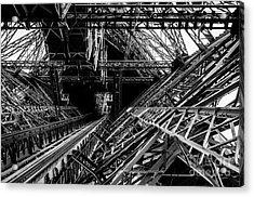 Eiffel Tower Acrylic Print by M G Whittingham