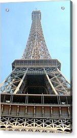 Acrylic Print featuring the digital art Eiffil Tower Paris France  by Linda Shackelford