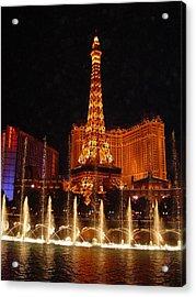 Eiffle Tower Las Vegas Acrylic Print by Greg Brandt
