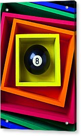 Eight Ball In Box Acrylic Print by Garry Gay