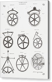 Eight Different Escapement Systems By Acrylic Print by Vintage Design Pics