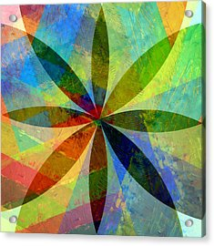 Acrylic Print featuring the painting Eight Petals by Michelle Calkins
