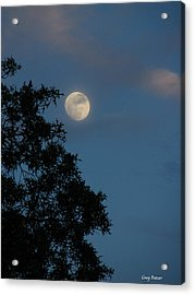 Acrylic Print featuring the photograph Eight Thirty Two Pm by Greg Patzer