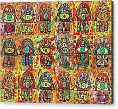 -eighteen Vintage Chai Hamsas Acrylic Print