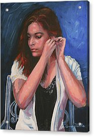 Eighteen Portrait By Moonlight Acrylic Print