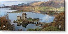 Eilean Donan Castle In Autumn - Panorama Acrylic Print