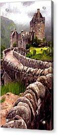 Acrylic Print featuring the painting Eilean Donan Castle by James Shepherd
