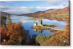 Acrylic Print featuring the photograph Eilean Donan In Autumn - Dornie by Grant Glendinning