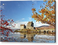 Acrylic Print featuring the photograph Eilean Donan In Autumn by Grant Glendinning