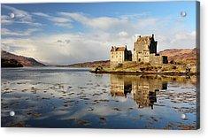 Acrylic Print featuring the photograph Eilean Donan - Loch Duich Reflection - Dornie by Grant Glendinning