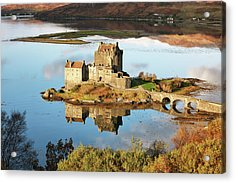 Acrylic Print featuring the photograph Eilean Donan - Loch Duich Reflection - Skye And Lochalsh by Grant Glendinning