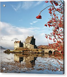 Acrylic Print featuring the photograph Eilean Donan - Loch Duich Reflection - Skye by Grant Glendinning