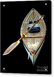 Acrylic Print featuring the digital art Eileen's Canoe by Dale   Ford