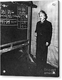 Einstein At Princeton University Acrylic Print by Science Source