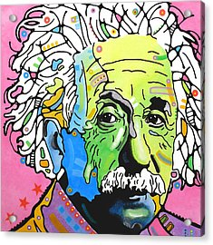 Acrylic Print featuring the painting Einstein by Dean Russo