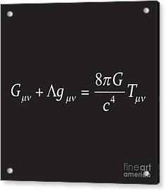 Einstein Field Equation Formula Acrylic Print