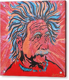 Einstein-in The Moment Acrylic Print