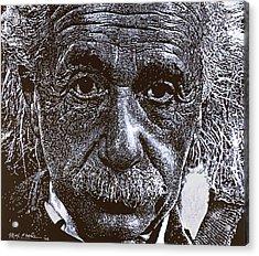 Einstein Acrylic Print by Max Eberle